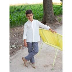 AMALIO RUBIO - Camisa lio crudo y pantalón cuadros