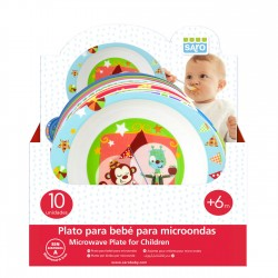 SARO - PLATO DE MICROONDAS PARA BEBÉS